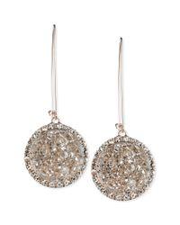 RACHEL Rachel Roy | Pink Rosegold Grey Drusy and Crystal Drop Earrings | Lyst