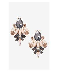 Express - Pink Rhinestone Cluster Post Earrings - Lyst