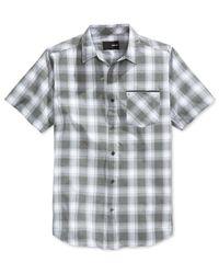 Hurley - Black Men's Dakota Dri-fit Woven Plaid Short-sleeve Shirt for Men - Lyst