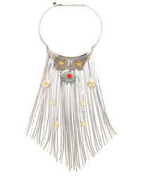 Iosselliani | Metallic Full Metal Jewels Necklace | Lyst