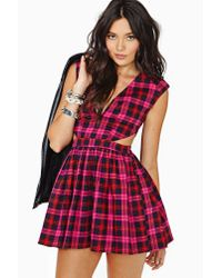 Nasty Gal - Pink School Slang Dress - Lyst