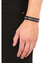 Want Les Essentiels De La Vie | Blue Tambo Leather Zip Bracelet for Men | Lyst