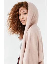 Silence + Noise   Pink Seoul Cozy Hooded Cardigan   Lyst
