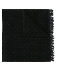Armani Jeans - Black Small Logo Scarf for Men - Lyst