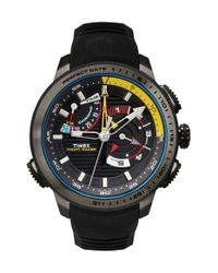 Timex | Black Timex 'intelligent Quartz - Yacht Racer' Silicone Strap Watch for Men | Lyst