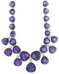 Jones New York - Purple Light Hematite-Tone Tanzanite Drama Necklace - Lyst