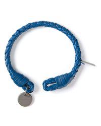 Bottega Veneta Blue Intrecciato Bracelet for men