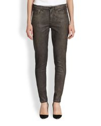 Elie Tahari - Gray Coated Azella Jeans - Lyst