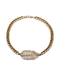 Lulu Frost | Metallic Goldtone Drift Necklace | Lyst