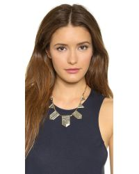House of Harlow 1960 Metallic Engraved Classic Station Necklace - Gold/silver