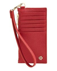 Tory Burch | Red 'york' Card Case | Lyst