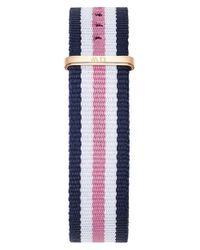 Daniel Wellington - Blue Southampton Striped Nylon Nato Watch Strap - Lyst