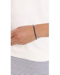Eddie Borgo - Blue Pyramid Tennis Bracelet - Lyst