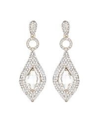 Mikey | Metallic Marquise Oval Centre Stone Earring | Lyst