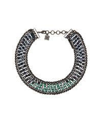 BCBGMAXAZRIA - Blue Ombre Stone Statement Necklace - Lyst