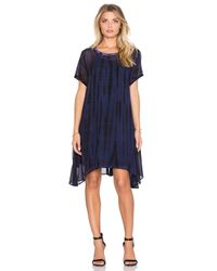 Lacausa - Blue Factory Mini Dress With Racer Slip - Lyst