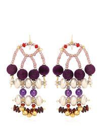 Anita Quansah London Purple Enya Earrings