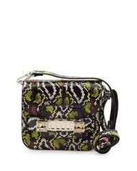 Proenza Schouler - Black Ps11 Tiny Snakeskin Cross-Body Bag - Lyst