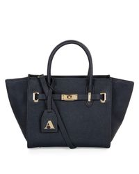Aquascutum Blue Small Leather Ellen Grab Bag