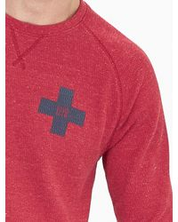 Banana Republic | Red Waffle-knit Neps 78 Crew for Men | Lyst