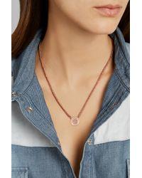 Carolina Bucci Pink Baby Girl 18-Karat Rose Gold, Silk And Diamond Necklace