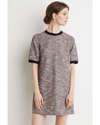Forever 21 | Gray Contemporary Bouclé Ringer Shift Dress | Lyst