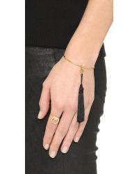 Vanessa Mooney Metallic The Sadi Crescent Moon Ring