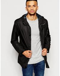 Jack & Jones | Black Terrace Parka With Hood for Men | Lyst