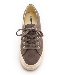 Superga Brown 2750 Waxed Suede Sneakers - Sand