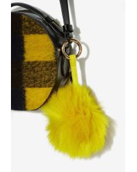 Nasty Gal - Once And Fur Ball Key Chain - Yellow - Lyst