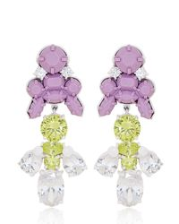EK Thongprasert Purple Giverny Garden Medium Earrings