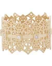 Grace Lee Metallic Gold Lace Crown Ring