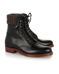 Foot The Coacher Black Amelia Leather Ankle Boots