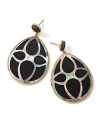 Ippolita | Black 18K Gold Polished Rock Candy Carved Layers Large Teardrop Earrings | Lyst