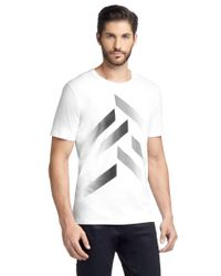 BOSS White Mercerised Cotton T-shirt for men