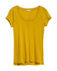 H&M Yellow Jersey Top