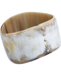 Monique Péan | Natural Women's Cream Buffalo Horn Bangle | Lyst