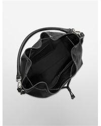 Calvin Klein Black Scarlett Convertible Drawstring Bucket Bag