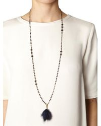 Isabel Marant | Blue Dodge Feather and Crystal Necklace | Lyst