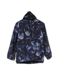 Moncler - Blue Floral-Print Casual Jacket  - Lyst