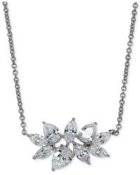 Arabella | Metallic Swarovski Zirconia Pendant Necklace In Sterling Silver | Lyst