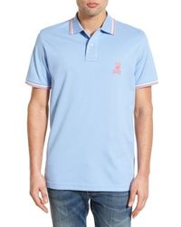 Psycho Bunny | Blue Neon Pima-Cotton Polo Shirt for Men | Lyst
