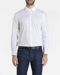 Ted Baker - White Jacquard Shirt for Men - Lyst