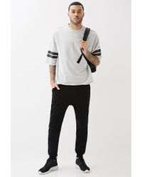 Forever 21 Black Varsity Stripe Cutoff Sweatshirt You've Been Added To The Waitlist for men