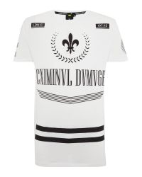 Criminal Damage | White Regular Fit Satin Fleur Art Graphic T Shirt for Men | Lyst