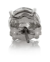 Kenneth Jay Lane - Metallic Rhodiumplated Cubic Zirconia Earrings - Lyst