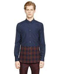 Iceberg Multicolor Cotton Poplin & Plaid Flannel Shirt for men