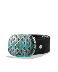 David Yurman - Blue Frontier Buckle with Turquoise for Men - Lyst