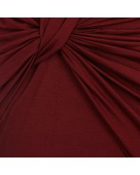 River Island - Dark Red Twist Front Bodycon Dress - Lyst