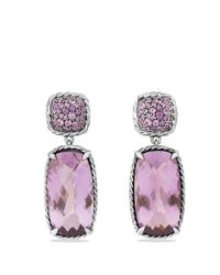 David Yurman | Metallic Chatelaine Drop Earrings With Lavender Amethyst & Amethyst | Lyst
